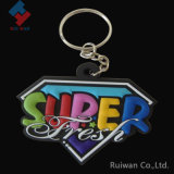 Colorful Super Diamond Shape Soft PVC Key Ring