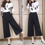 2016 New Fashion Pants European Style Lady Design Wide Leg Trouser Casual Elegant Women High Waist Palazzo
