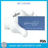 Hand Shape White Ceramic Businese Card Holder