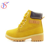 Family Fitted Kids Children Injection Safety Working Work Boots Shoes for Outdoor Job (SVWK-1609-039 TAN)