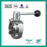 Welded Sanitary Stainless Steel Manual Butterfly Valve