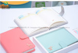 Manufacturer PU Cover Custom High Quality Office Paper Notebook with Metal