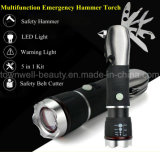 Multifunctional Emergency Car LED Tools Hammer Torch