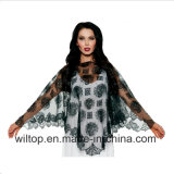 Assorted Halloween Lace Skull Spider Web Poncho (PM085)