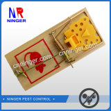 Wooden Base Mouse Snap Trap with Plastic