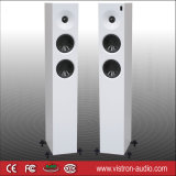 Pair Electronic White Floor Standing Tower Speakers with Bluetooth 3-Way Home Cinema System
