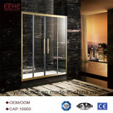 Simple Shower Room with Glass Shower Door Pivot Hinges