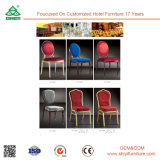 Faux Leather Stainless Steel Dining Chair with Back