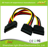 IDE Power 4 Pin Molex to SATA 2 Serial ATA Power Splitter Cable