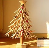 Christian Tree Style Wood Art, Artificial Wooden Christmas Tree