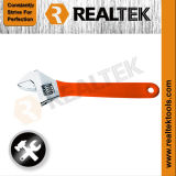 Heavy Duty Adjustable Wrench with Dipped Handle