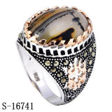 New Arrival Sterling Silver Ring Jewelry with Agate