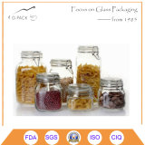 Clear Glass Food Storage Airtight Home Container