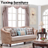 Antique American Fabric Sofa Set with Classical Table Set for Home