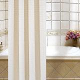 Fashionable Waffle Jacquard Waterproof Polyester Bathroom Shower Curtain