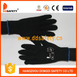 Ddsafety 2017 4 Yarns Black Cotton or Polyester Gloves 7gauge