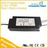 UL Listed Programmable 50W 1400mA LED Driver with 0-10V/ PWM /Rset /Clock Dimming
