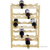 Wood 20-Bottle Free Standing Storage Wine Display Rack