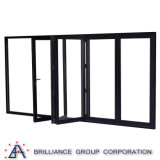 Five Panel Aluminum Frame Sliding Folding Door