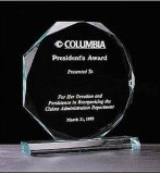 Customize Ad-213 Clear Laser Engraved Acrylic Hot Press Trophy Plaque