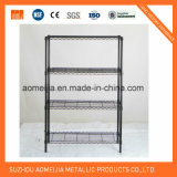 SGS Approved 4 Layer Black Heavy Duty Wire Display Stand