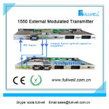 Hfc 1550nm CATV Fiber External Optical Transmitter Sbs 13-19dBm Adj-FWT-1550eh-2X9
