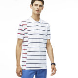 Wholesale Men′s Fit Cotton Striped Polo Shirt