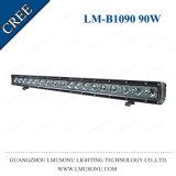 Lmusonu Single Row 29.8 Inch 4X4 Flood/Spot Car Light LED Bar 90W