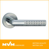Stainless Steel Door Handle on Rose (S1026)
