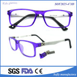 Kids Thin Optical Square Glasses Purple Oval Eyeglasses