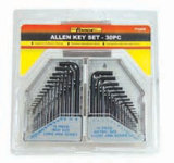 30PCS Cr-V Steel Wrench Allen Key Set Hex Key Set