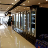 Commercial Multideck Display Case with Transparent Glass Door