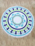 6 Styles 100% Cotton Super Soft, Fadless, High Absorption Round Beach Towel with Tassel