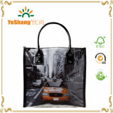 UV Printing Full Color Shiny PVC Bag Insulated Patent PVC Lunch Tote Bag
