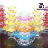 5PCS Square Glass Bowl Set with Color Lid (GB1409)
