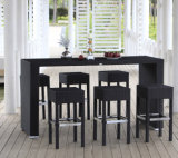 Wholesale Water-Proof Rattan Bar Furniture Set (IF-1005)