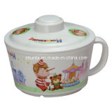 100% Melamine Tableware -Kid′s Tableware Noodles Bowl with Cover/Noodles Bowl (pH635S)