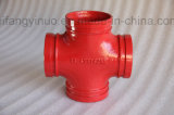 Ductile Iron 300 Psi Grooved Equal Cross -1nuo Brand