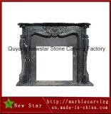 High Polished China Black Granite Fireplace Mantel