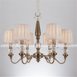 Iron Chandelier Lighting with Fabric Shade (SL2073-6)