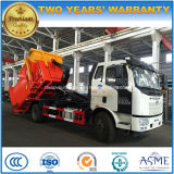 FAW 4X2 15 Tons Hook Arm Roll off Truck with Garbage Compress Equipment