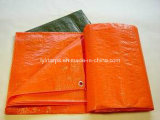 Orange PE Tarpaulin Cover, Polyethylene Woven Fabric, Waterproof PE Tarp Cover