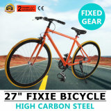 "27"" Orange Fixie PRO Road Bike Single Speed Fixed Gear Fixie Bicycle"