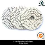 4 Inch 3-Step Diamond Polishing Pads White Spiral Resin Velcro