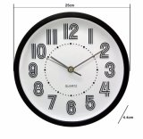 Black and White Classic Analog Wall Clock