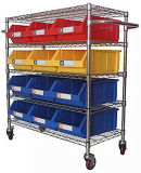 Connected Wire Shelving with Bins (WST3614-010)
