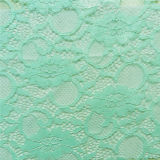 Green Stretch African Crochet Fabric Lace (NF1006)