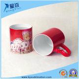 Red Heart Handle Sublimation Ceramic Color Changing Mug