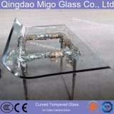 10mm Silk Screen Curved Glass for Cake Display Cabinet