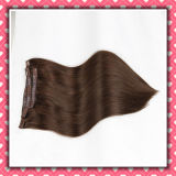 Brazilian Hair Clip-on Human Hair Extensions Silky 18inches